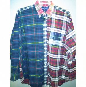 Polo by Ralph Lauren The Big Oxford patchwork shir